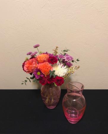 Confetti Keepsake Vase Arrangement