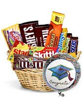 Congrats Graduation Candy Basket Basket in Uvalde, TX | THE FLOWER PATCH
