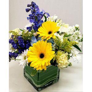 congrats its baby boy cube vase