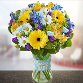 Congrats on Baby Boy Bouquet Baby