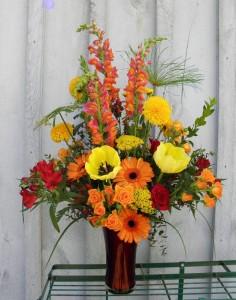 Congratulations Bouquet Festive Flowers in a Vase
