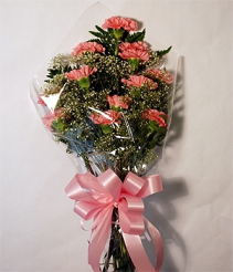 Congratulations Carnation Presentation Wrapped Presentation Bouquet