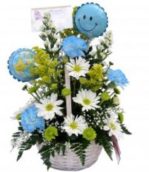 Congratulations it's a Boy New Baby Flowers
