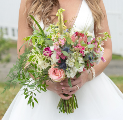 Congratulations Jenny & John! European Hand Tied Bridal Bouquet