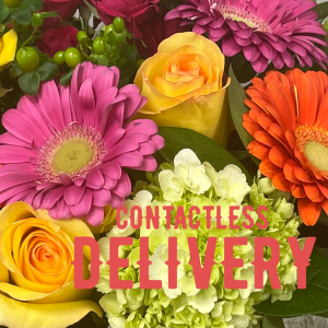 CONTACTLESS DELIVERY Leave it to our designers!! We will create a beautiful arrangement for you.  In the special instruction box please let us know if you have any specials requests ie. colours and varieties in Etobicoke, ON | THE POTTY PLANTER FLORIST