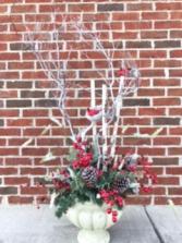 Winter Wonderland Urn Holiday Forever Flower Arrangement