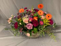 Cheerful Colors Container Sympathy Arrangements