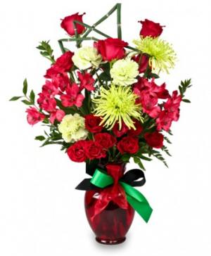 Contemporary Cheer Kwanzaa Flowers in Carmel, IN | LOVE AT FIRST SIGHT FLORAL & DESIGN