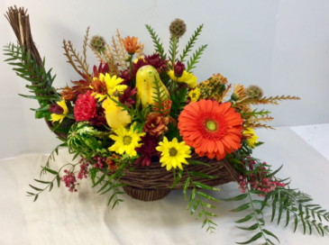 Contemporary Cornucopia  Centerpiece