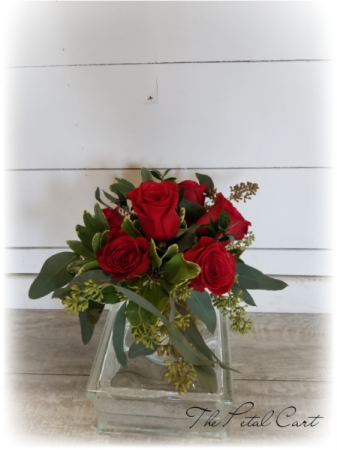 Contemporary Half Dozen Vase Arrangement