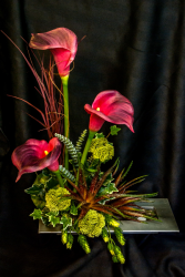 Contemporary Mom Silk High Style Arrangement