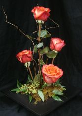 Contemporary Roses  Centerpiece