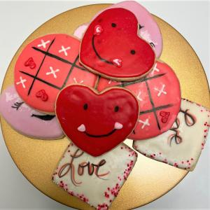 Conversation Heart Cookies Sweet Blossoms in Jamestown, NC | Blossoms Florist & Bakery