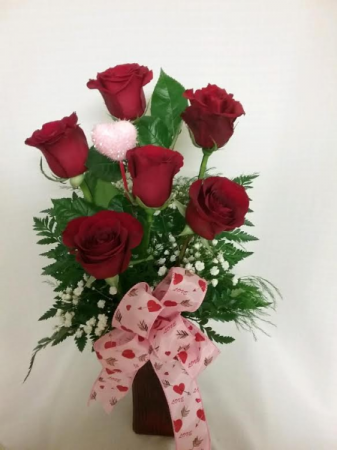 Cook Florist's 6 Red Valentine Roses