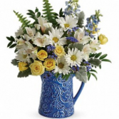 COOL BLUE BLOOMS PITCHER SUMMER WEB SUPER SPECIAL