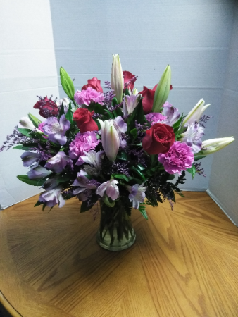 Cool Lavender  All occasion vase arrangement