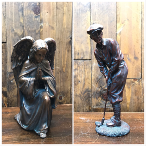 Copper Angel & Golfer  in Yankton, SD | Pied Piper Flowers & Gifts