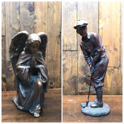 Copper Angel & Golfer