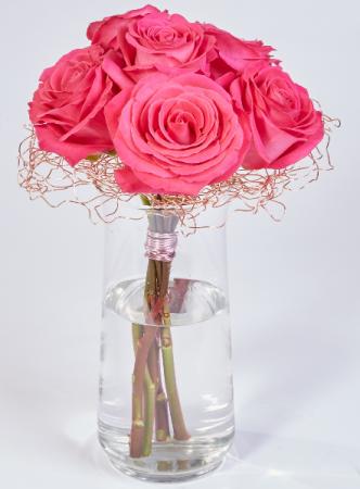 Copper Armature Pink Floyd Roses Vase Arrangement In Port Stanley