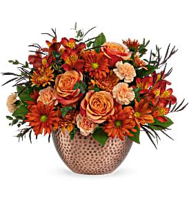 Copper Beauty Centerpiece Arrangement