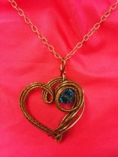 Copper Heart Artful Jewelry Artisan Wire Wrapped Pendants