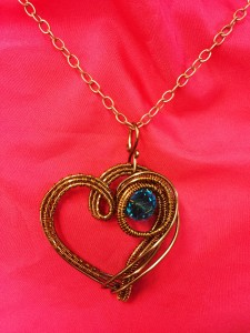 Copper Heart Artful Jewelry Artisan Wire Wrapped Pendants in Springfield, IL | FLOWERS BY MARY LOU INC