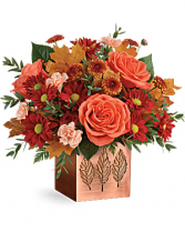 Copper Leaves Bouquet Fall