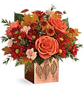 Copper Petals - 300 Fall arrangement