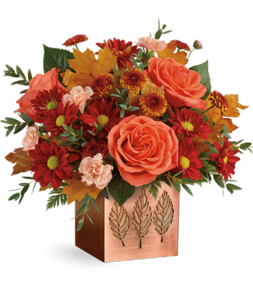 Copper Petals(Container may vary) All-Around Floral Arrangement