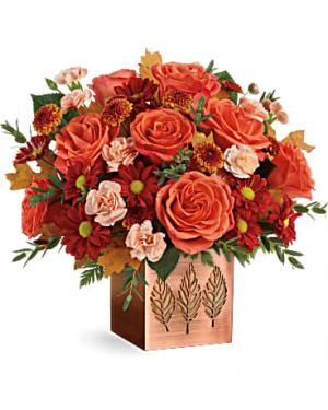 Copper Petals Arrangement in Warrington, PA | ANGEL ROSE FLORIST INC.