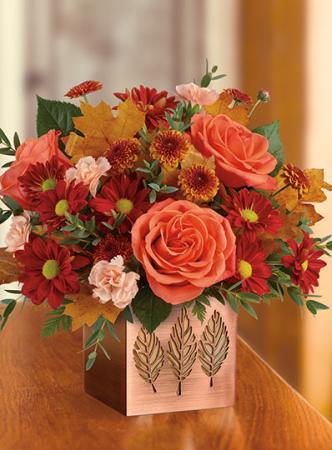 Copper Petals Bouquet Fall Arrangement