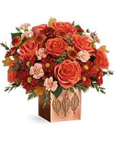 Copper Petals Bouquet  Fall centerpiece
