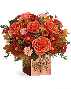 Copper Petals Bouquet Fall Flowers in Riverside, CA | Willow Branch Florist of Riverside