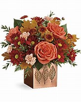 Copper Petals Table Top in Claremont, NH | FLORAL DESIGNS BY LINDA PERRON