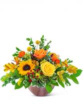 Copper Revival Centerpiece Flower Arrangement
