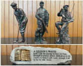 Copper statues and Soldiers Prayer plaque