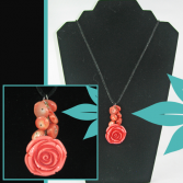Coral Antique Rose Jewelry