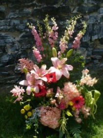 Coral & Blush French Garden  Shown at $150.00