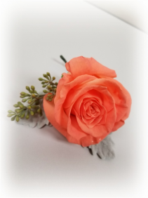 Coral Boutonniere Boutonniere