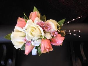 Coral Corsage  in Teaneck, NJ | TIGER LILY