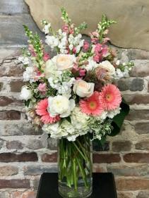Coral Creation Bouquet Vased Arrangement