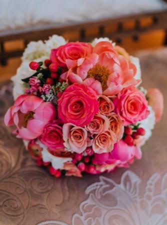 Coral Dreams Handtied Bridal Bouquet