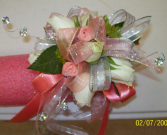 Coral Lights Prom Corsage