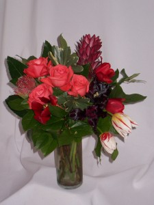 Coral Parrot - Prince George BC  Get Well Flowers: Mixed Arrangements of Roses and Flowers: AMAPOLA BLOSSOMS FLOWERS