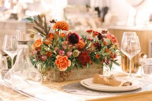 Moody & Dramatic Thanksgiving Centerpiece  in Burlington, VT   Kathy + Co Flowers