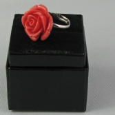 Coral Rose Ring Jewelry