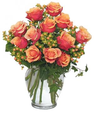 Coral Sunset Bouquet of Roses in Sunrise, FL | FLORIST24HRS.COM