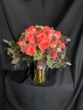 Coral Wedding Bouquet Bridal Bouquet