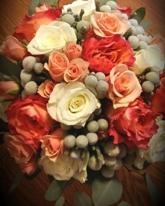 Coral Wedding Bouquet  Wedding  in Spanish Fork, UT | CARY'S DESIGNS FLORAL & GIFT SHOP