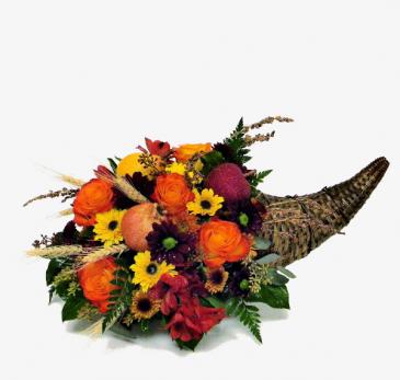 F100 - Cornucopia - Blessings Fresh Arrangment